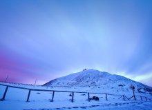 Śnieżka o wschodzie słońca
