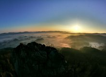 Wschód słońca ze Sokolika